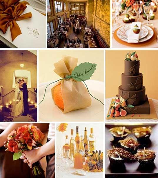 Brown And Gold Wedding Ideas: Zenadia Design's Color Palettes: Color Palette: Burnt