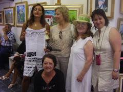 2007 Luglio Sara ferretti, Maria Gioseffi, Elisabetta e la Canessina all'ultima mostra.