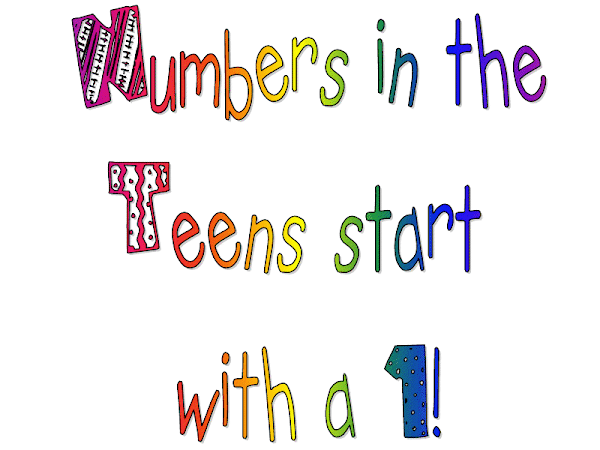 Numbers in the Teens (They start with a 1!!!!) song