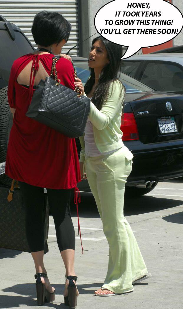 kardashian kim Big butt bubble