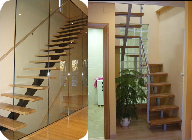Construcci n acabados escaleras - Escaleras voladas de madera ...
