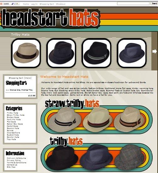 Headstart Hats  New Website f65b3a953b21
