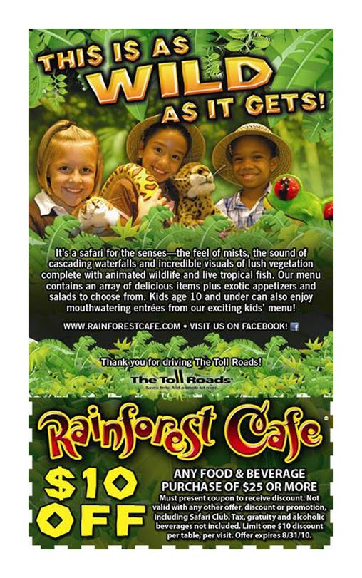 picture regarding Rainforest Cafe Printable Coupon named Rainforest restaurant coupon codes printable 2018 - Coupon codes for boy or girl