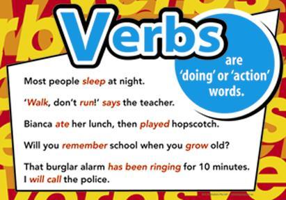 Grammar-mania!: LESSON 3: VERBS