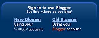 Blogger signin