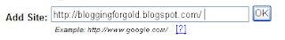 Google sitemap add site