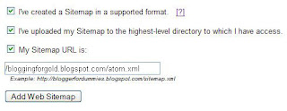Google sitemap Add Web Sitemap