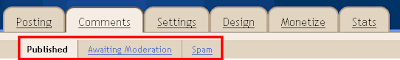 Spam Comment Moderation In Blogspot
