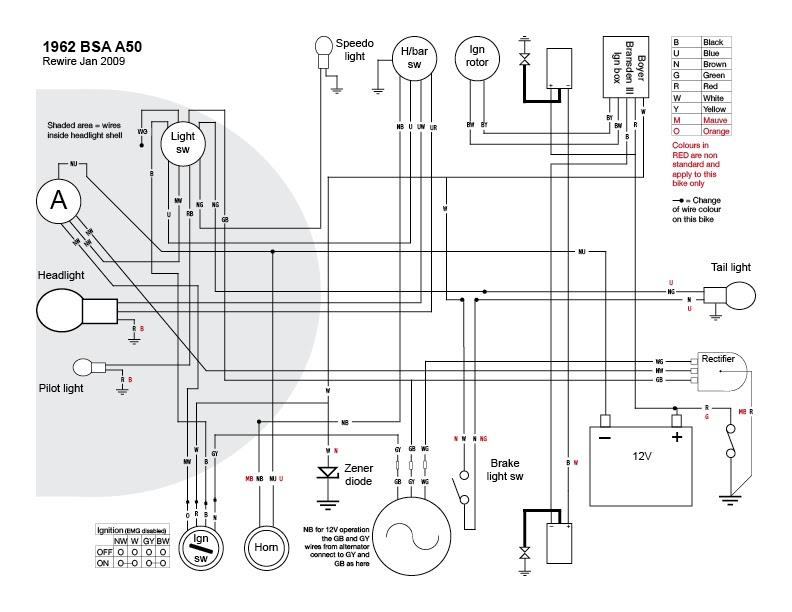 old bike hack a proper wiring diagram i think