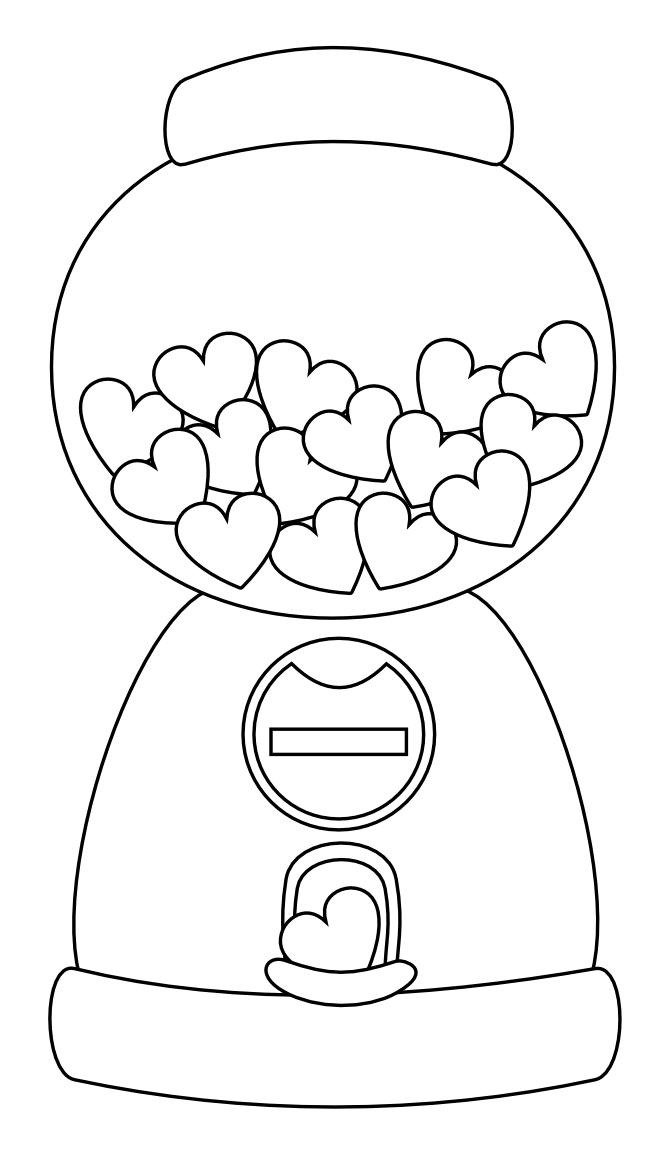 Heart Gumball Machine Digi stamp FREE