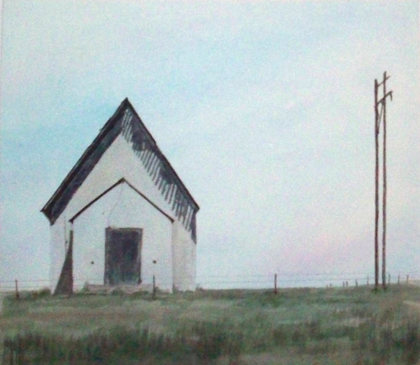 """Arni's Art Blog: """"ABANDONED CHURCH NEAR BUFFALO, OKLAHOMA"""""""