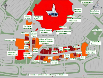 Map Of Patriot Place | Ground Map