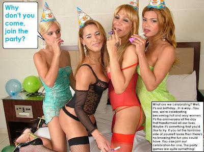 femdom forced feminization caption