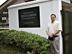 John at LDS center in Uganda