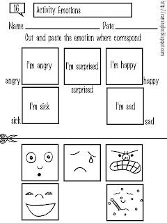 Carolina Mi Página De Inglés Actividades 16 Emotions