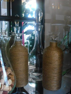 wrapping jute around glass craft