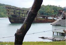 A capsized ship Hondures