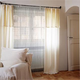 maison creative uma simples cortina. Black Bedroom Furniture Sets. Home Design Ideas