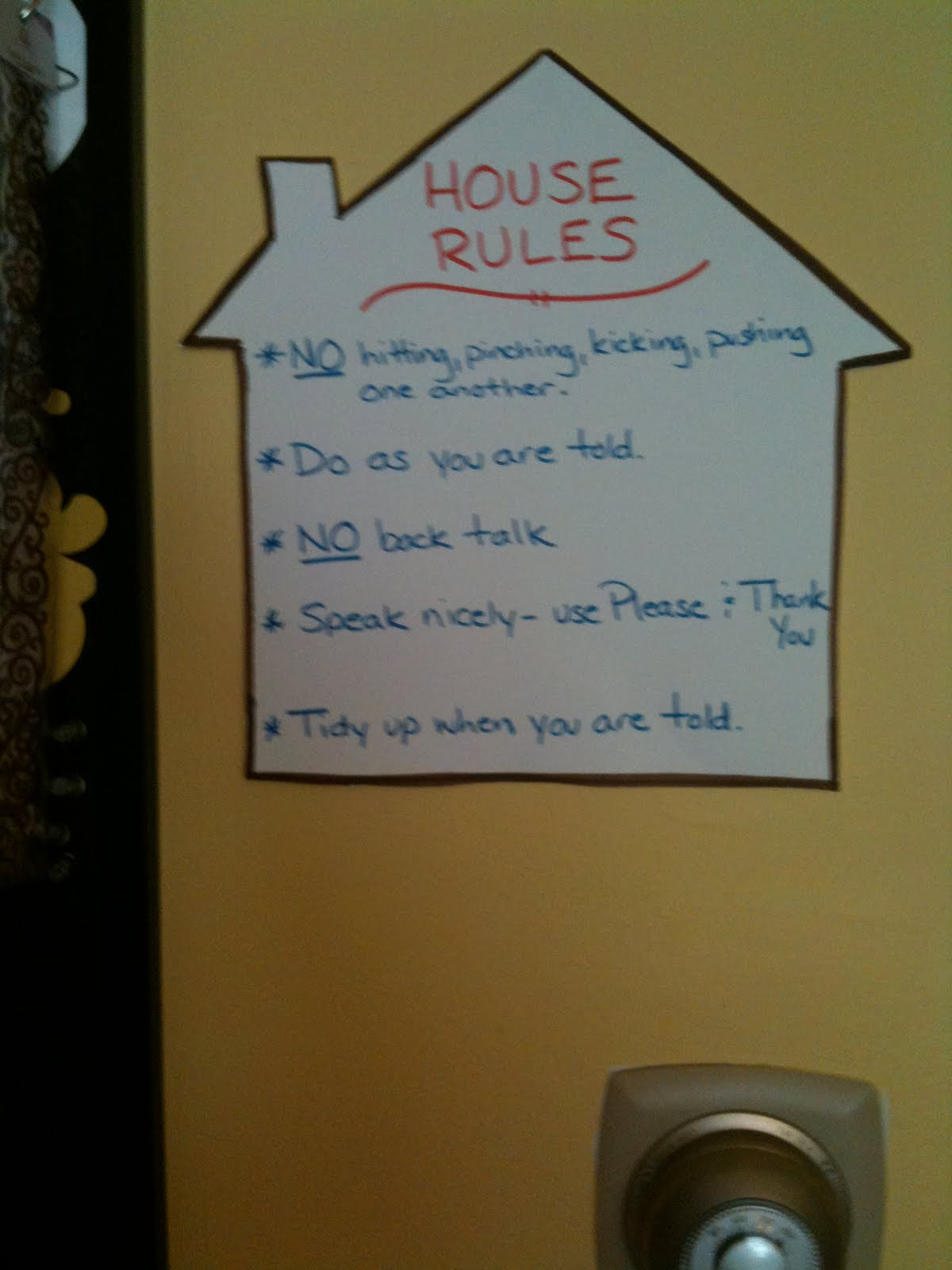 Supernannys Example Of House Rules Bing Images