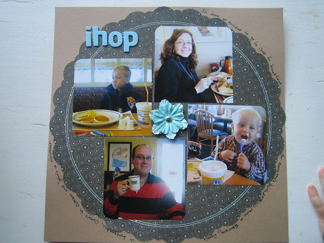 Scrapbook Page Layout 12x12