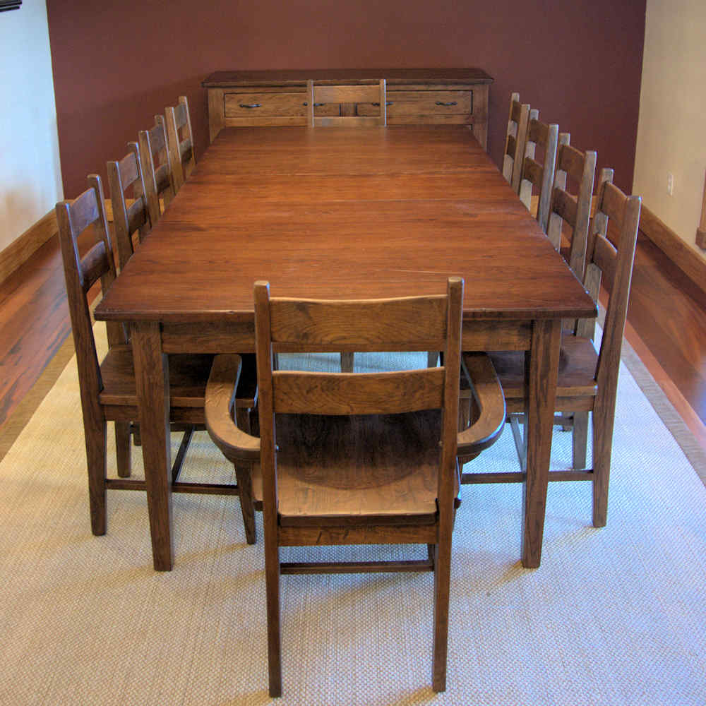 Dining Table For 10 12 Oak 9ft 4in Large Refectory Dining Table Seats 10 12 People X Ebay