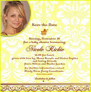 Nicole Richie's Baby Shower Invitation