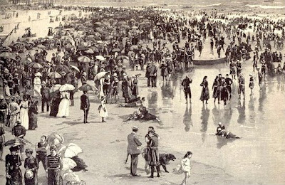 3dcf4b1d15743 As Times Changed So Did The Methods Men And Women Alike Enjoyed Their Time  At The Shore. Bathing Machines Were Replaced With Beach Huts And Changing  Tents .
