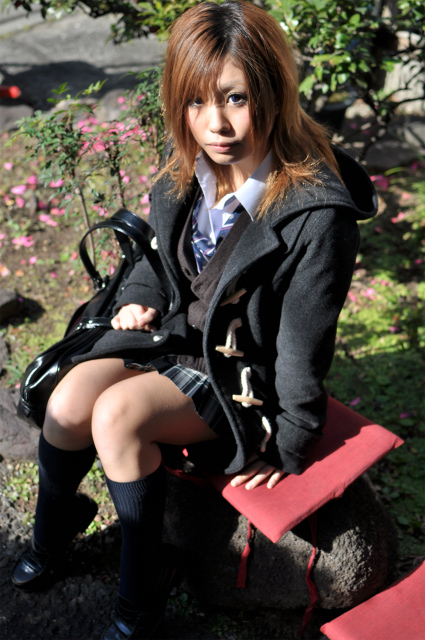 Asian high school girl