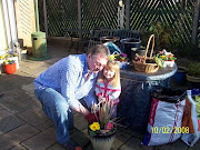 Bill in the garden with Niamh