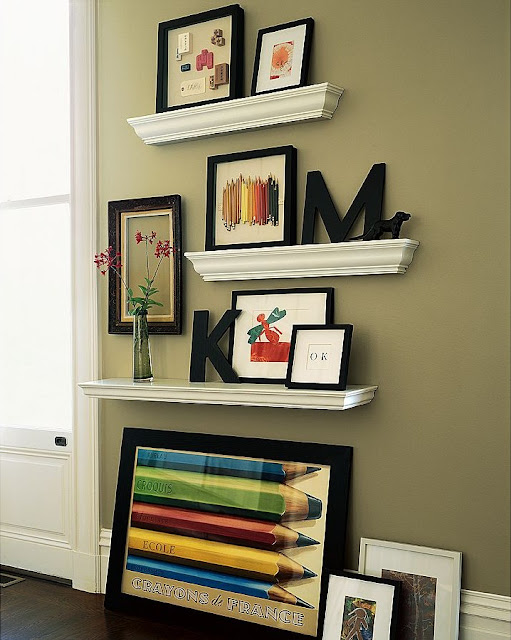 The Richest Of Fare My New Crown Moulding Shelves Updated