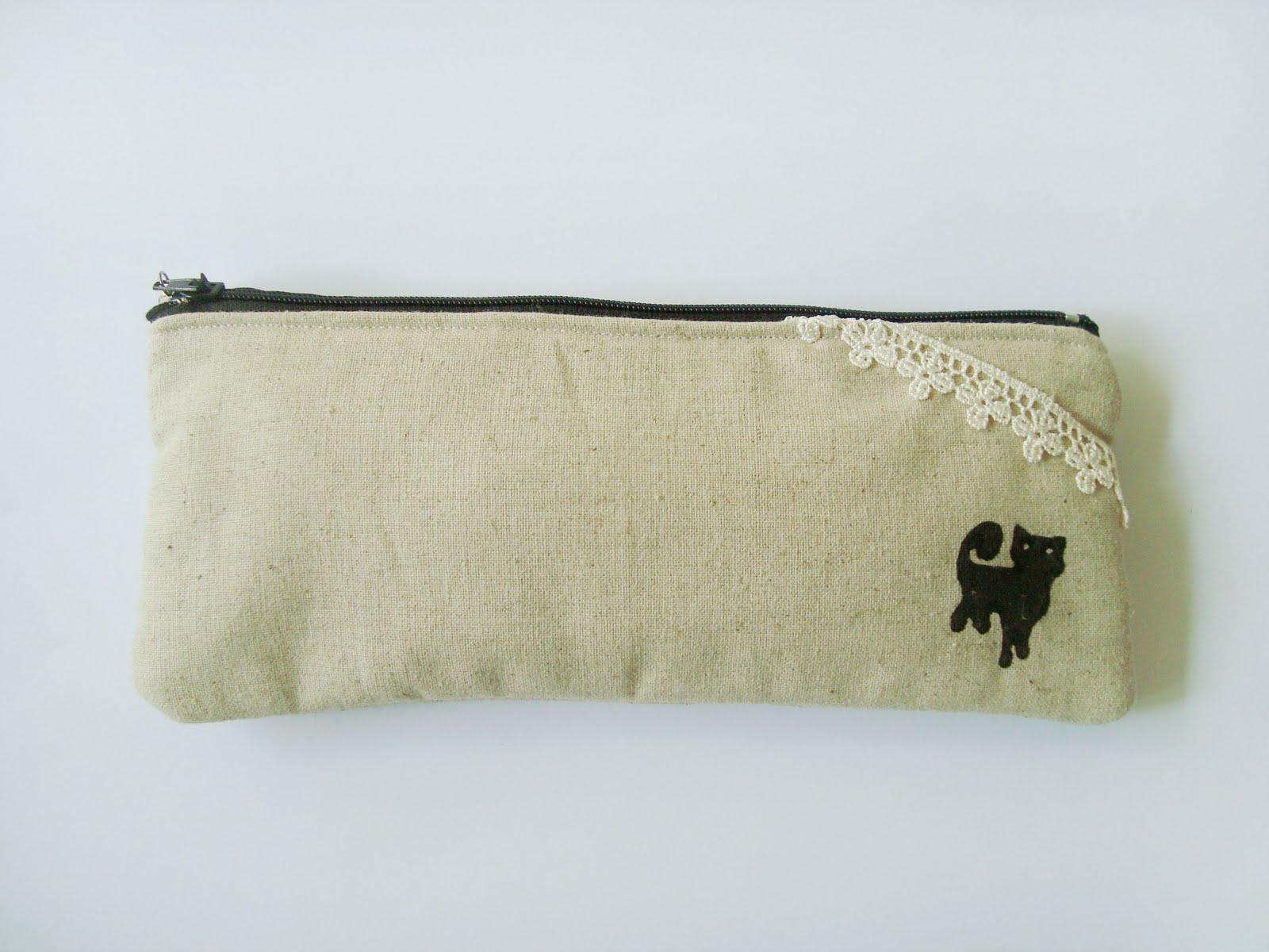 Keller Homemade: Zakka Pencil Case (Cat)