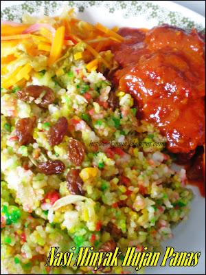 Hepi Cook Mum: Nasi Minyak Hujan Panas