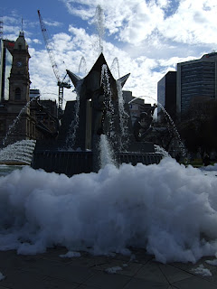 Victoria Square bubbly fountain