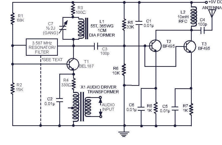 THE RADIO BUILDER: SW Transmitter_3T_1000 meters range