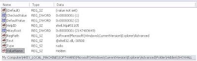 طريقة حذف فيروس Win32.Perlovga.a و Temp1.exe - Temp2.exe - C Hidden+files