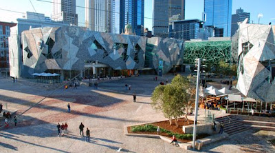 Melbourne Para Turistas Melbourne Australia Fed Sq ek jul07