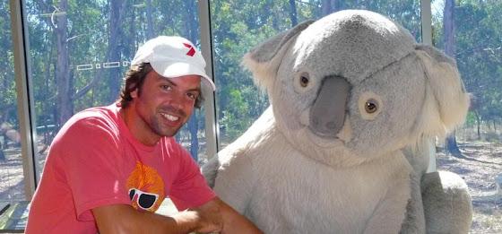 Aquí estoy yo con un Koala en Australia