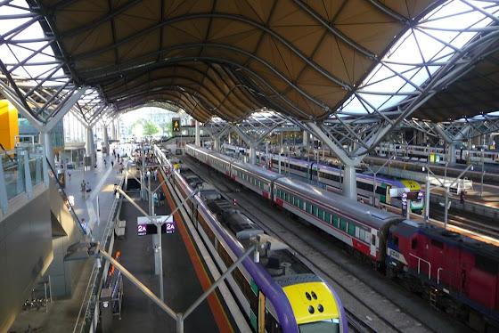 Así se ve la estación de trenes en Melbourne desde lo alto