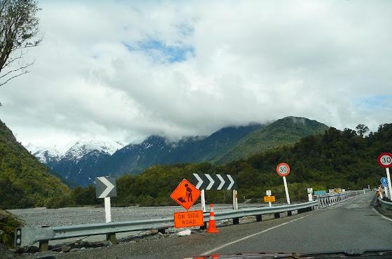 Aquí estaban como arreglando la carretera