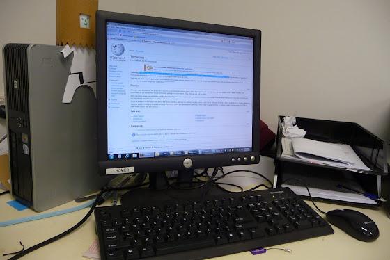 Aquí está mi estación de trabajo en Melbourne, Australia