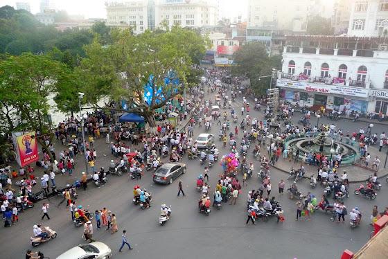 Así se ve la ciudad de Hanoi, en Vietnam