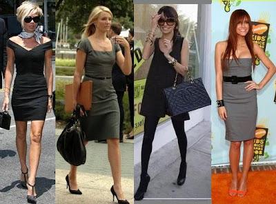 Como combinar un vestido negro y gris