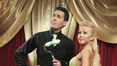 Adam Carolla and Julianne Hough<br />