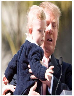Donald Trump and son Barron at entertainmentnewsnevents.blogspot.com