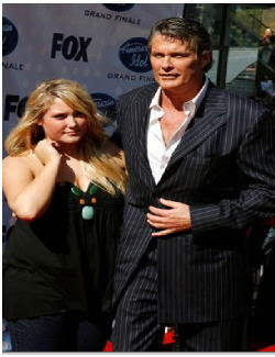 David Hasselhoff and daughter Hayley Amber at entertainmentnewsnevents.blogspot.com