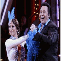 image of cheryl burke and wayne newton
