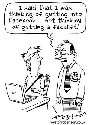 Royston Cartoons: Birthday cartoon: The Big Four Oh-No