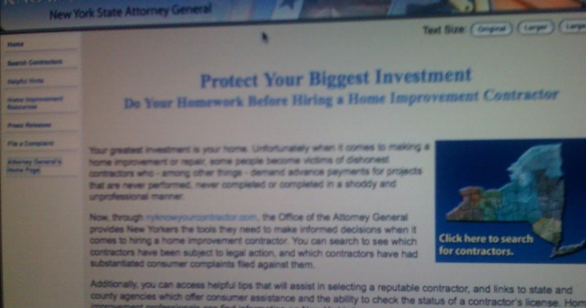 New York Home Improvement Contractor License Lookup   Taraba