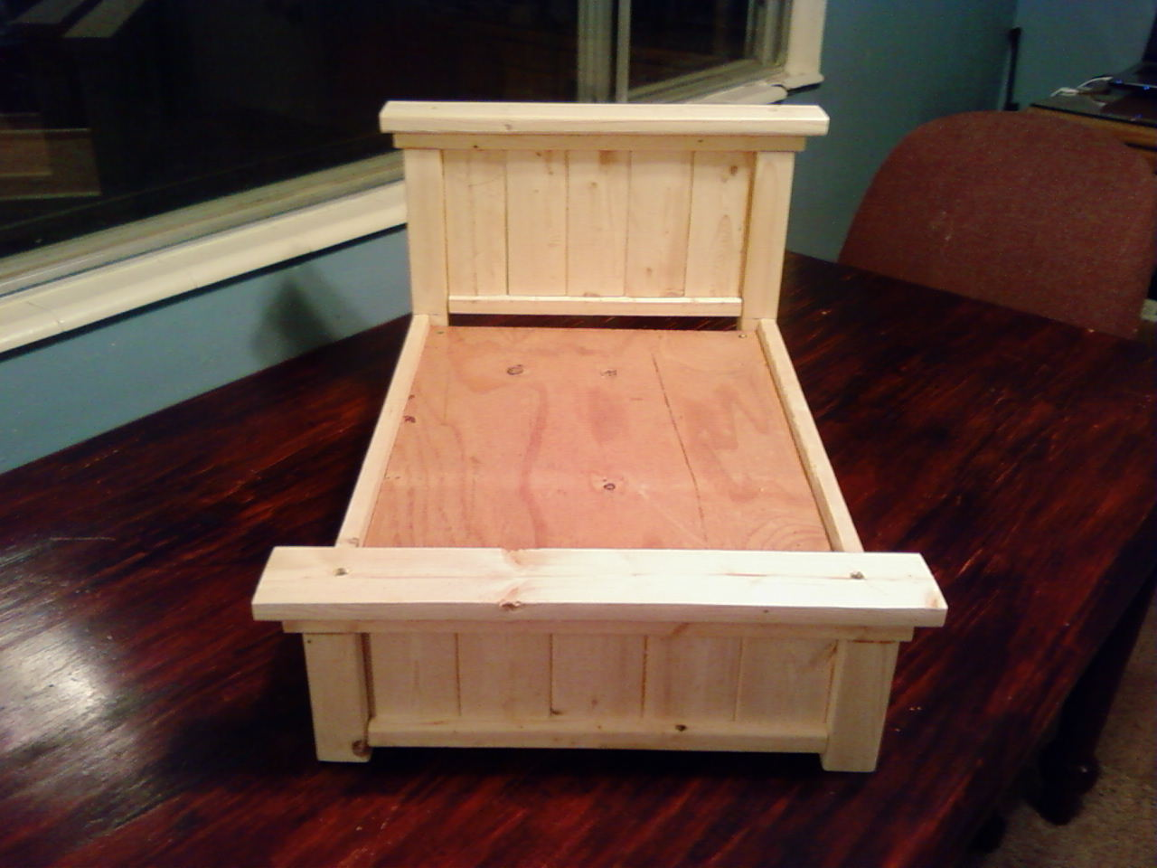 Made From Wood Queen Unfinished Farmhouse Doll Bed 30