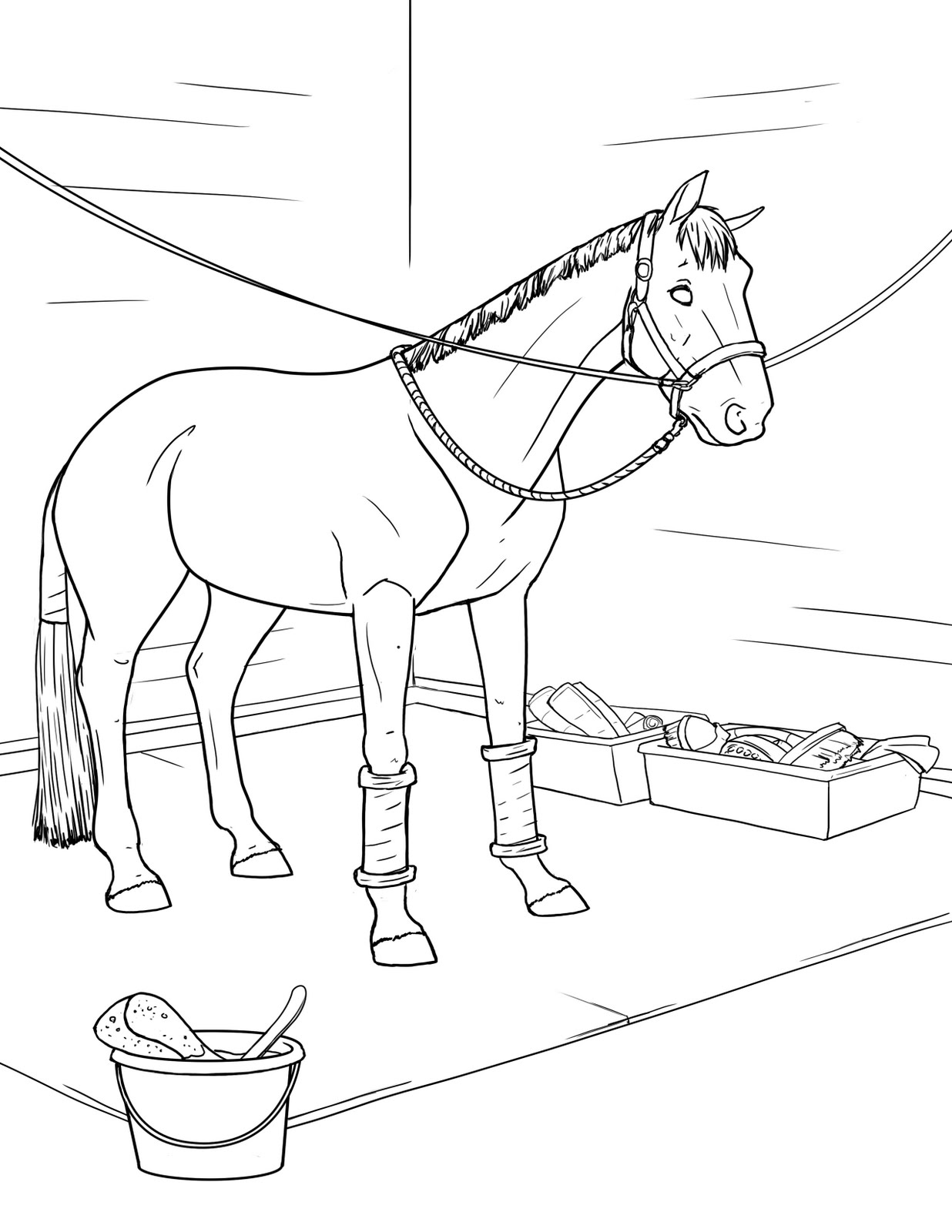 coloring book pages of horses - photo#10